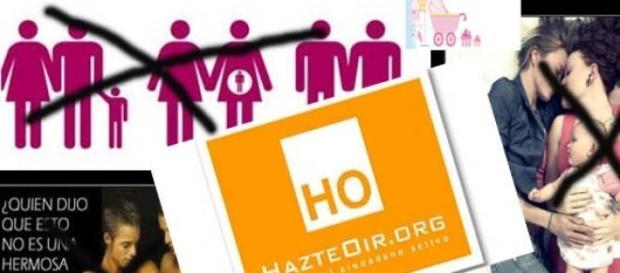 La organización HO contra familias homoparentales