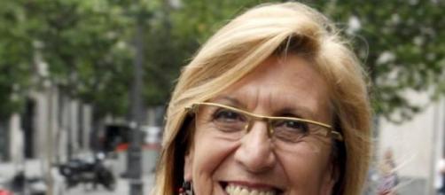 Rosa Díez, en una de sus apariciones públicas