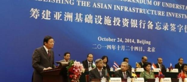 Signature de l'accord AIIB, le 24 octobre à Pékin