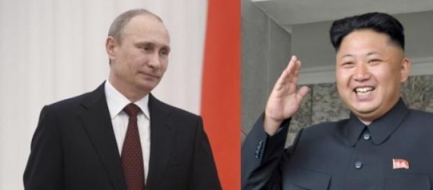 Vladimir Putin si Kim Jong Un