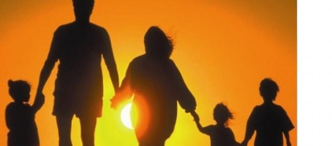 L'immagine di una famiglia felice