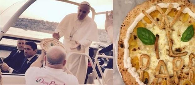 Foi o Papa que pediu uma pizza? Fonte: Instragram