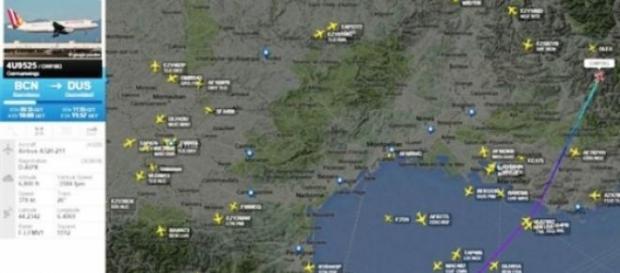 Última localização do voo da Germanwings