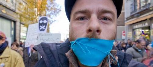 manifestantes contra le ley mordaza