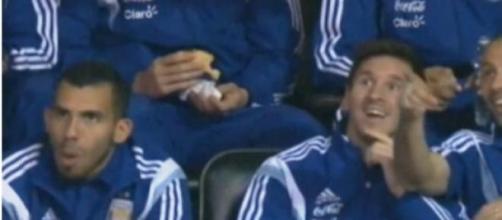 Tévez, Messi y Mascherano divirtiéndose en la NBA