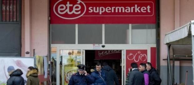 Rapina al supermercato Eté di Ottaviano