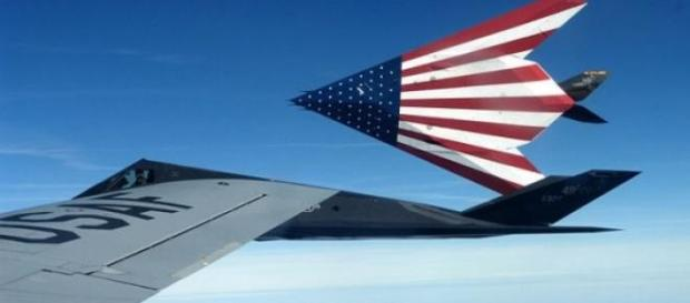 US air force swoop into action