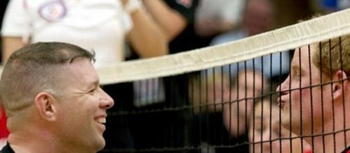 El príncipe Harry en uno de sus eventos deportivos