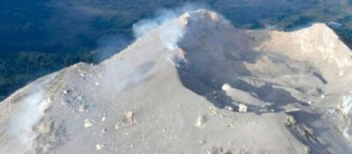 Imagem do vulcão Colima