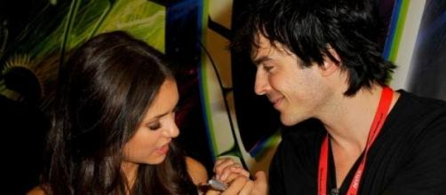Nina Dobrev con Ian Somerhalder