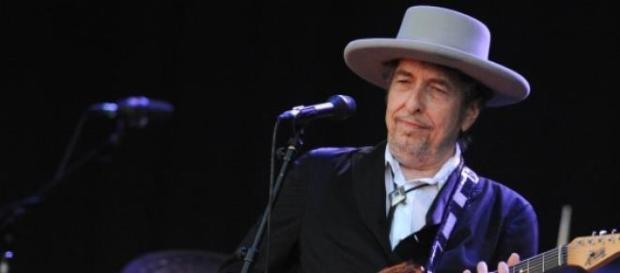 Bob Dylan en un concierto.