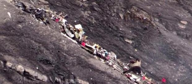 I resti del Germanwings sulle Alpi