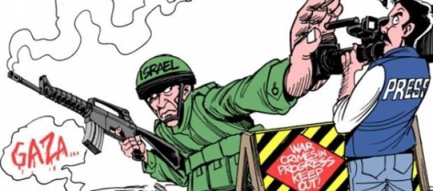 Caricatura de Israel. Press Freedom