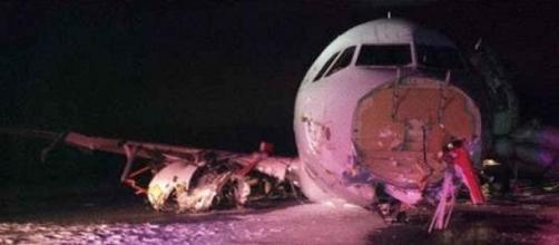 Sortie de piste d'un A320 au Canada