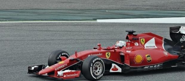 Sebastian Vettel concurează pentru Ferrari în 2015