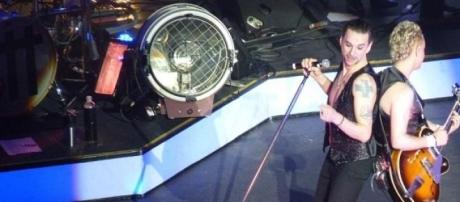 David Gahan y Martin Gore en un show de Depeche