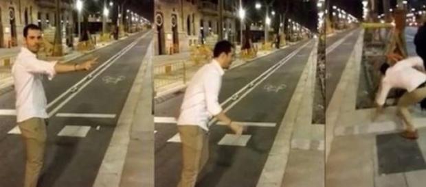 Chico asesta una patada a una joven en Barcelona