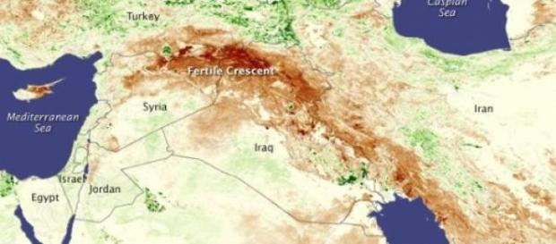 El Creciente Fértil fotografiado por la NASA