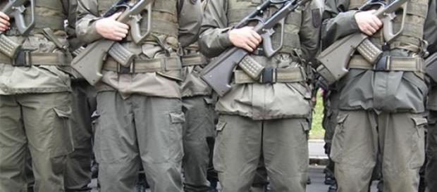 Rekruten des Bundesheeres.