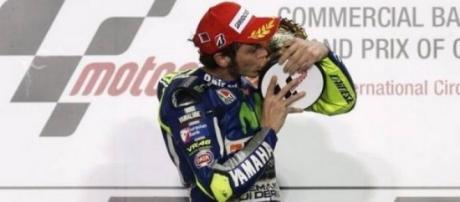 Valentino Rosssi sur le podium