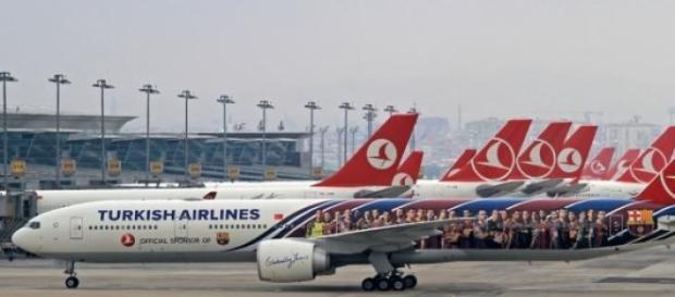 Aviões da Turkish Airlines foram alvos de ameaças