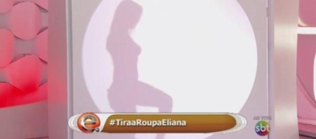 Eliana troca de roupa ao vivo em seu programa