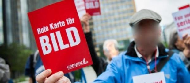 Foto einer früheren Demonstration gegen die BILD.