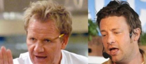 Oliver e Ramsay são conhecidos chefs britânicos