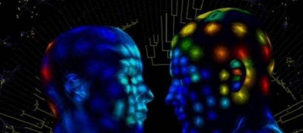 Representación artística de un mapa 3D de la piel