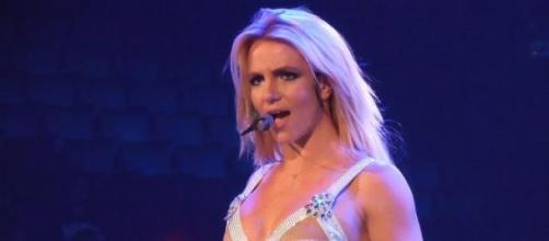 Britney Spears en uno de sus conciertos