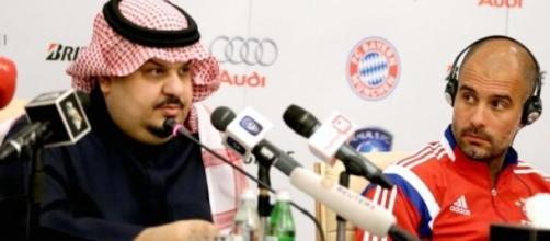 Guardiola en una conferencia de prensa