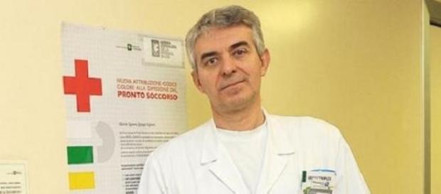 Il dottor Piccioni, tornato al lavoro dopo il coma
