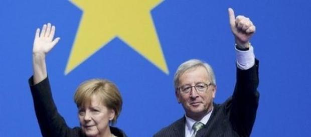 Imagen de Merkel y Juncker
