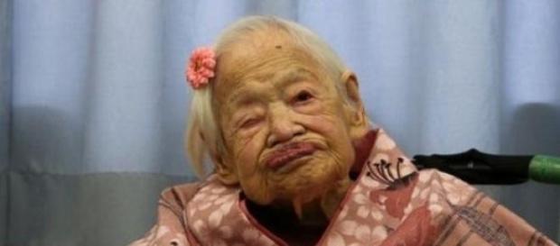 Misao Okawa completa 117º aniversário