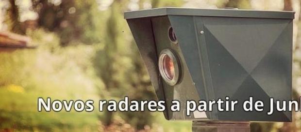 Radares registam vários veículos ao mesmo tempo.