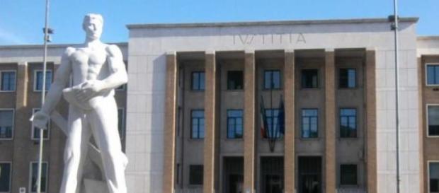 Una foto del tribunale di Latina