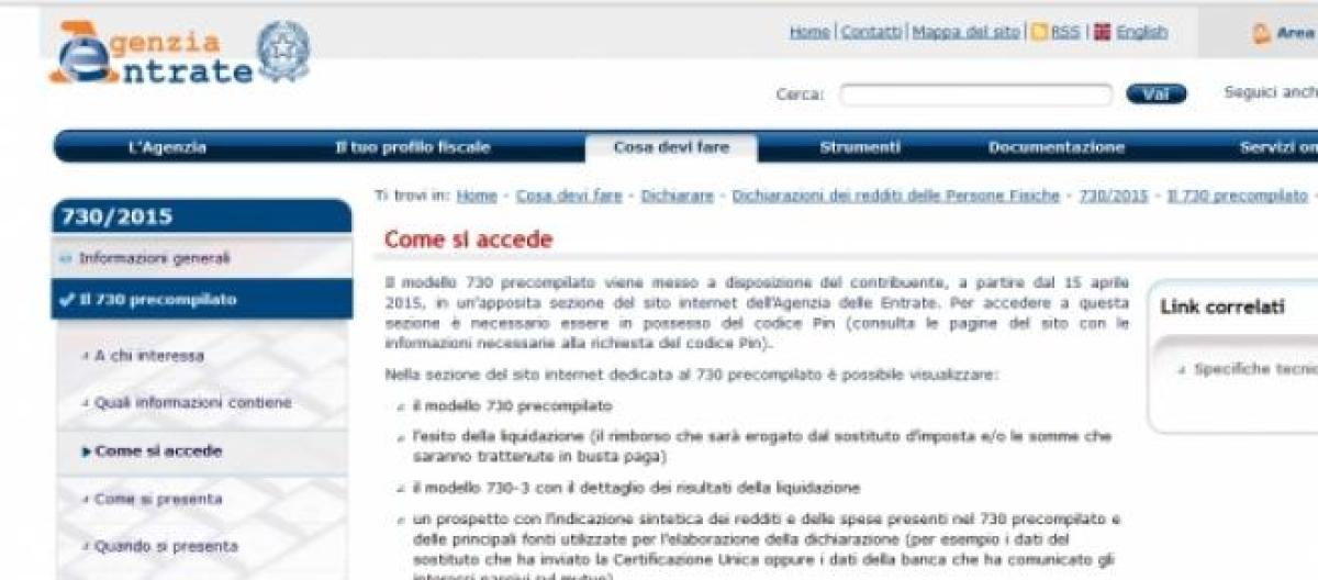 cud sito agenzia delle entrate