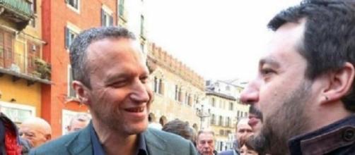 Flavio Tosi e Matteo Salvini quando erano alleati