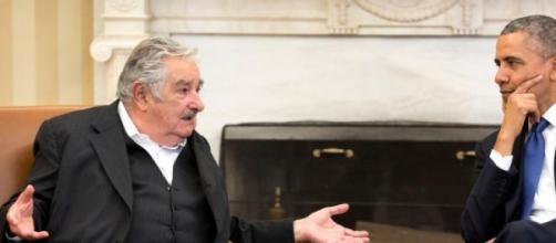 Pepe Mujica en una audiencia con Barack Obama