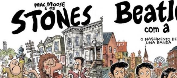 Beatles e Stones viram história em quadrinhos.