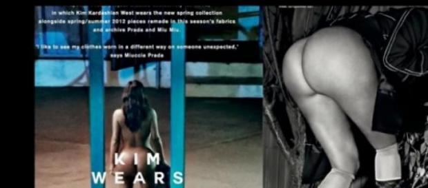 Cartel de Prada con Kim Kardashian