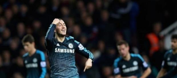 Hazard scored his tenth league goal of the season
