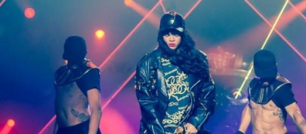 Rihanna en uno de sus conciertos