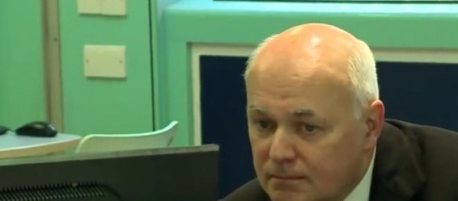 Ian Duncan Smith at a Jobcentre winter 2014