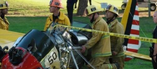 Avioneta destrozada de Harrison Ford.