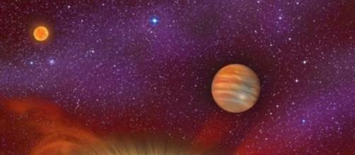 Nuevo planeta con cuatro estrellas