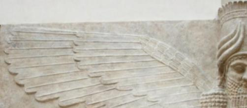 Taureau ailé à tête d'homme au British Museum.