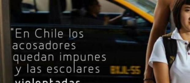Campagne contre le harcèlement diffusée au Chili.