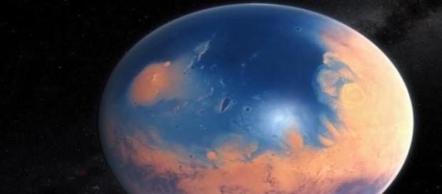 Ejemplo de como pudo haber sido Marte.