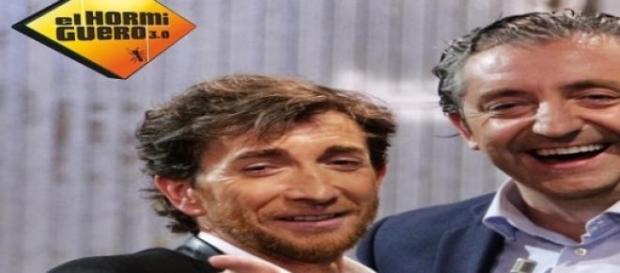 """Josep Pedrerol con Pablo Motos en """"El Hormiguero"""""""